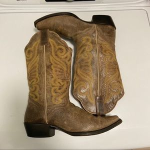 Women's JB Dillon Western Boots 8 B Brown Leather